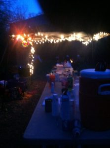 Savage 100 aid station at night