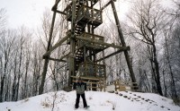 Timms Hill Tower- north central Wisconsin, snowshoeing in Midwest