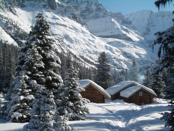 The Elizabeth Parker Hut in winter