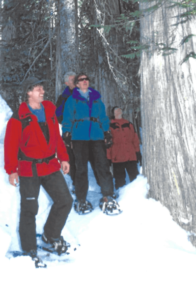 Snowshoeing is ideal for groups and for the...