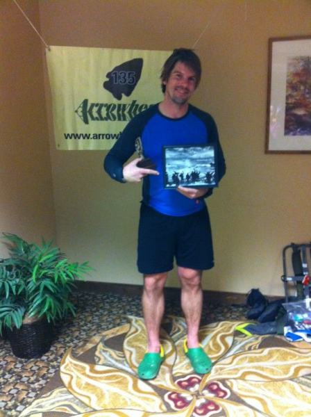 Chris Scotch wins Ernest Shackleton Endurance Award for most time-on-trail.