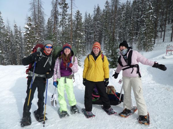 Will, Megan, Kelton and Delaney at the trailhead.