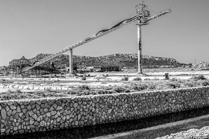 Saline di Molentargius - Vecchio nastro trasportatore