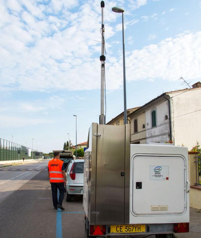Centralina mobile monitoraggio acustico