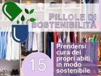 Le pillole di sostenibilità di Arpa Toscana: prendersi cura dei propri abiti in modo sostenibile