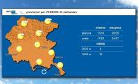 Previsioni meteorologiche in formato video con voce narrante di Arpa FVG