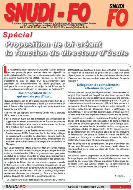 Spécial Direction - 09/2020