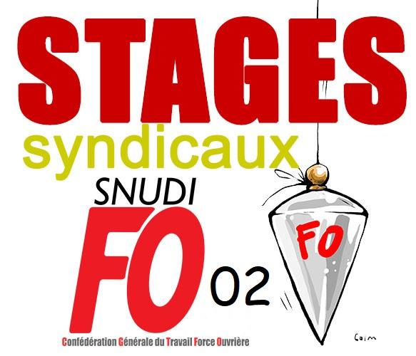 STAGES de Formations Syndicales : les dates, les lieux.