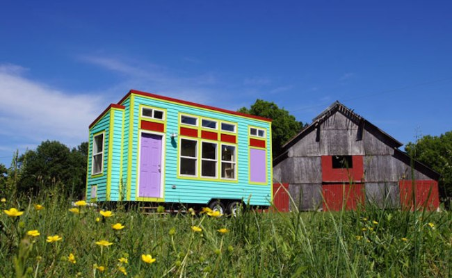 Brightly Colored Tiny House On Wheels Called The Yosemite