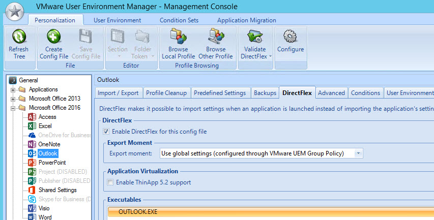 Capture files outside of user profile with VMware UEM