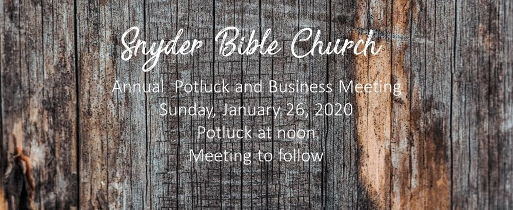 Annual Church Potluck and Business Meeting