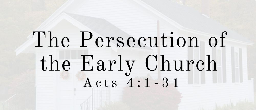 The Persecution of the Early Church