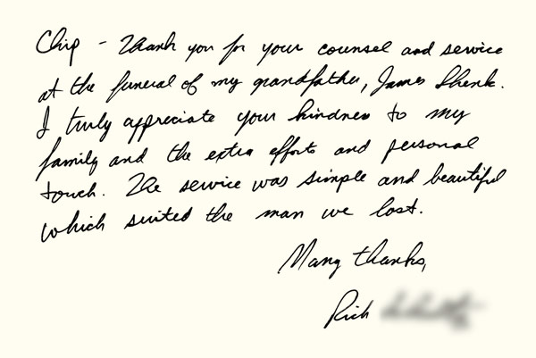 Testimonials about the Charles Snyder Funeral Home