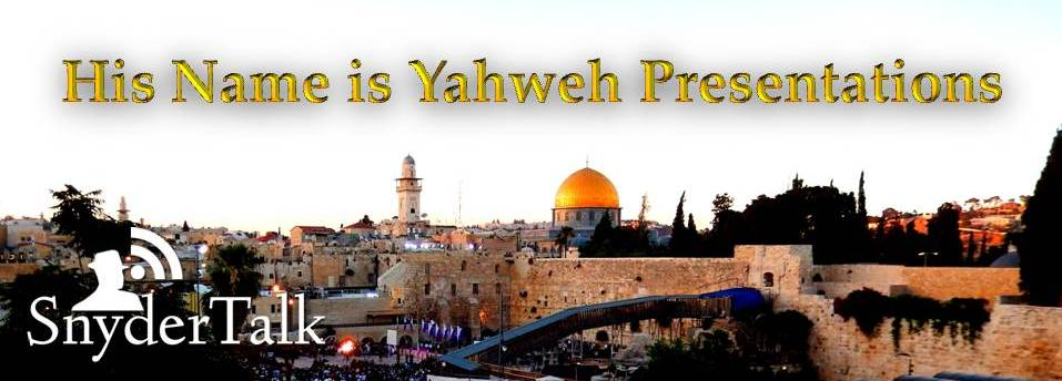 Yahweh is our Creator
