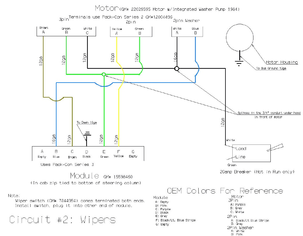 wiper motor wiring diagram chevrolet multiple light 1988 gmc k1500 get free image about