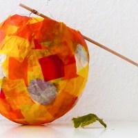 Herbst-Laterne basteln