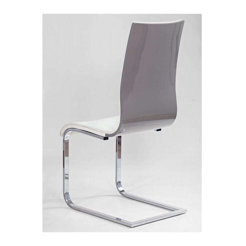 chaise luge design grise et blanche aury