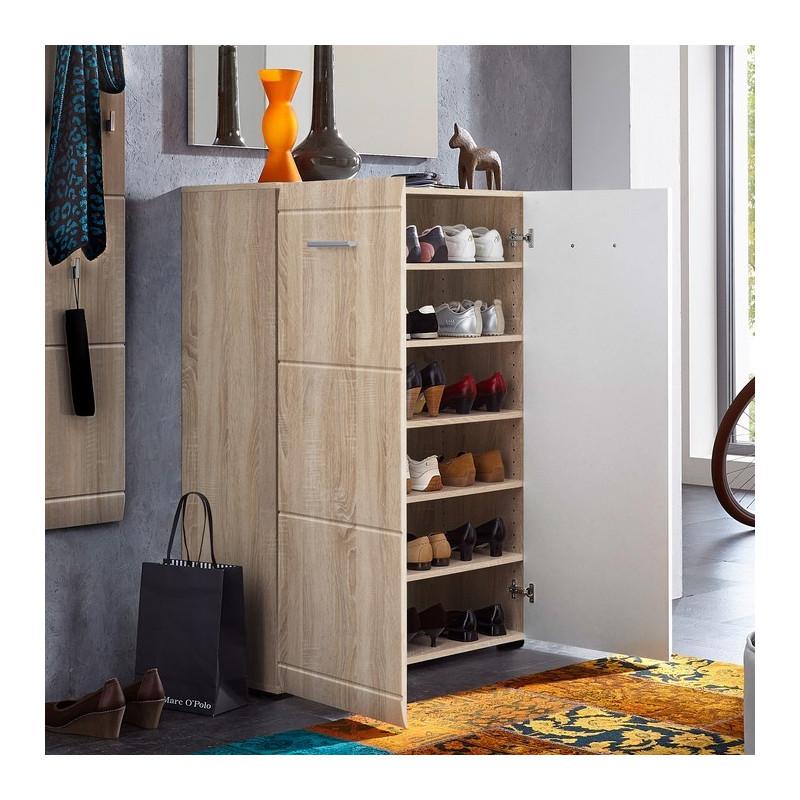 chaussurier moderne couleur bois goteborg meuble moderne chene clair goteborg