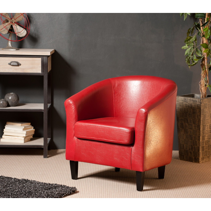 Fauteuil Cabriolet Rouge Mana So Inside