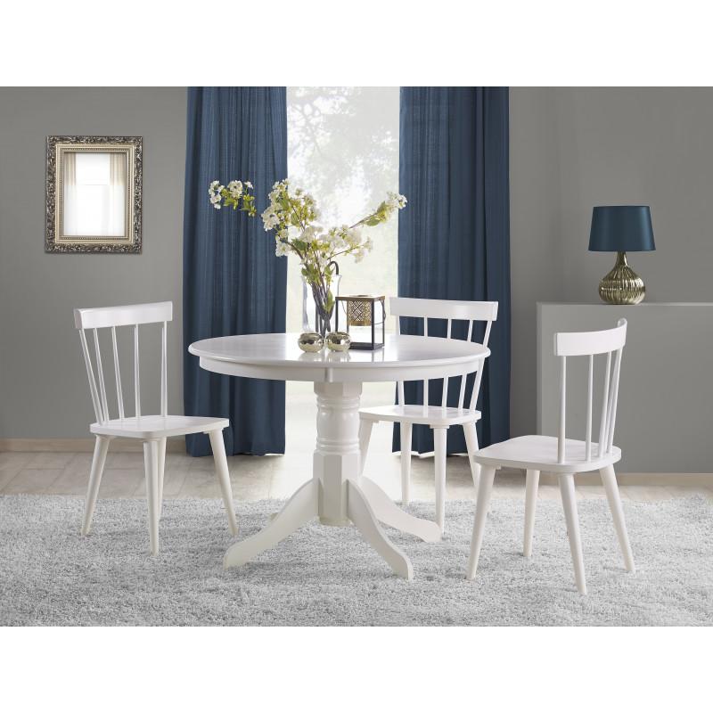 table a manger ronde baroque blanche lori