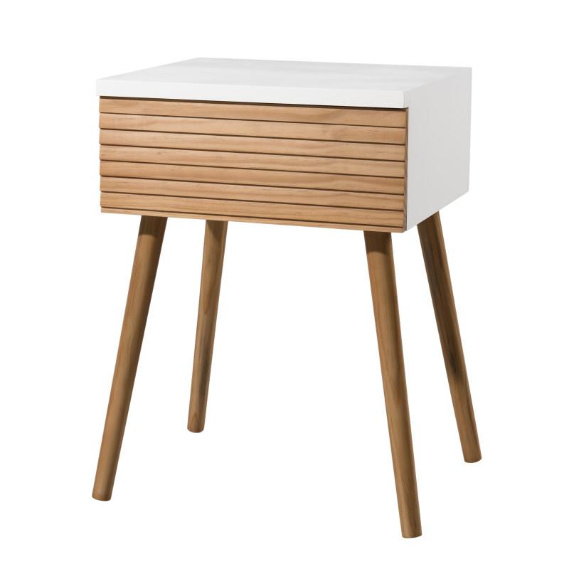 table de chevet design scandinave bois et blanc ella