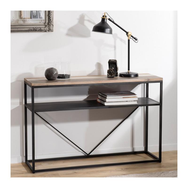 console design industrielle bois et metal leon