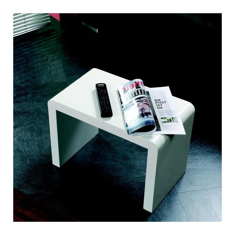 Bout De Canap Blanc Lisa Tables Dappoint Design Noir