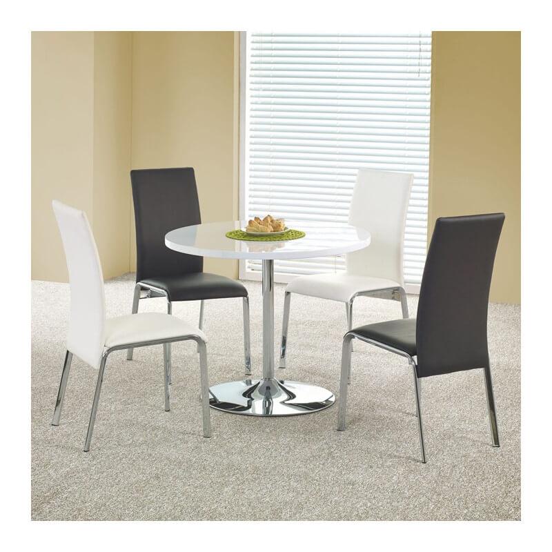 table de cuisine ronde blanche fred