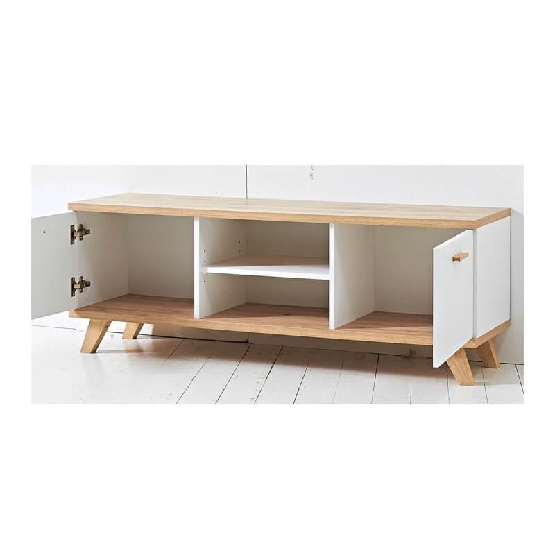 meuble tv scandinave 144x40cm malmo