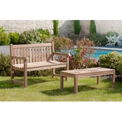 table basse d exterieur ajouree rectangulaire en teck summer