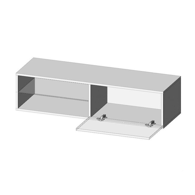 meuble tv suspendu avec led trevise