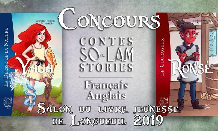 Concours des Contes So-Lam dans le cadre du Salon du livre jeunesse de Longueuil