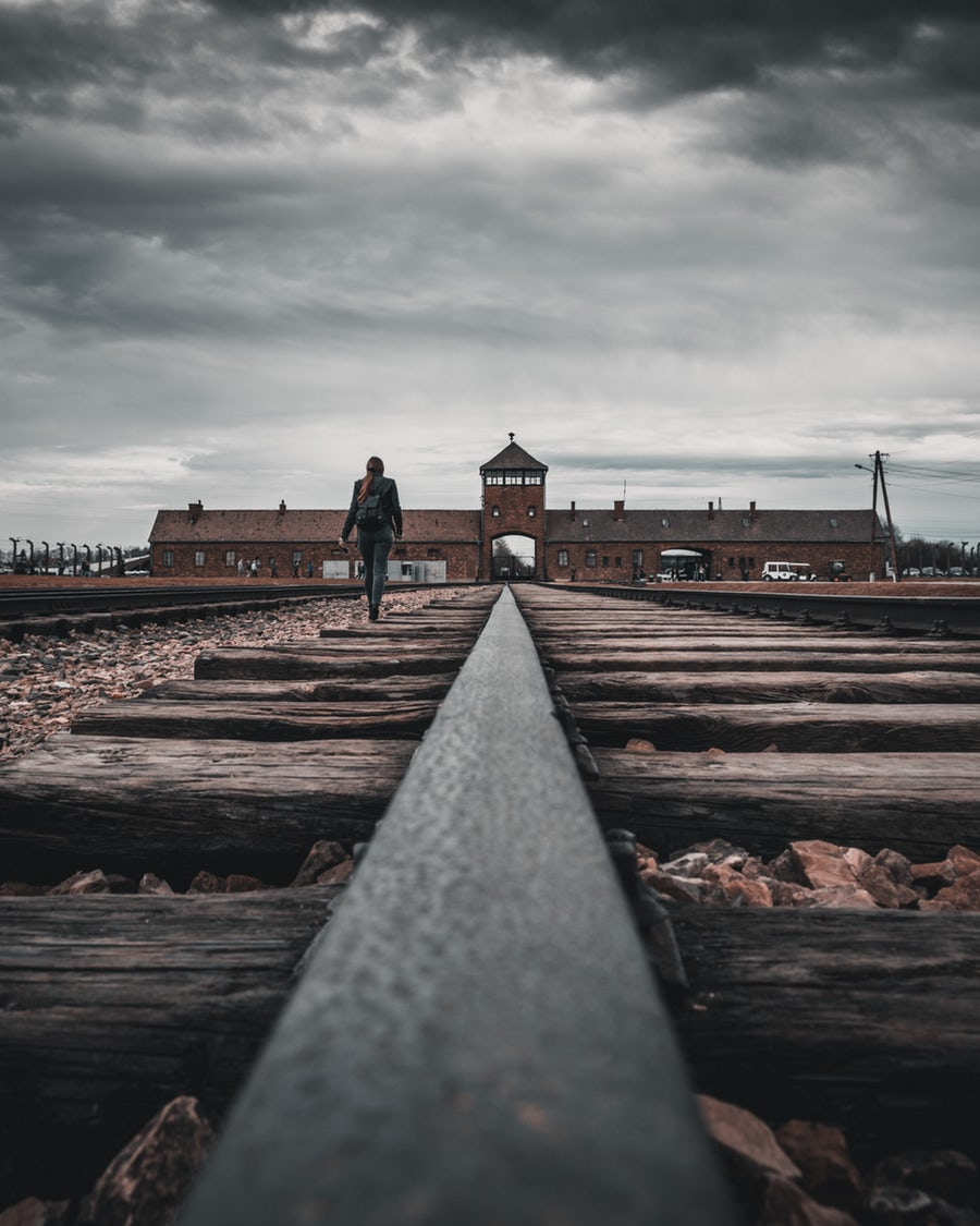 A Visit to Auschwitz - II gate