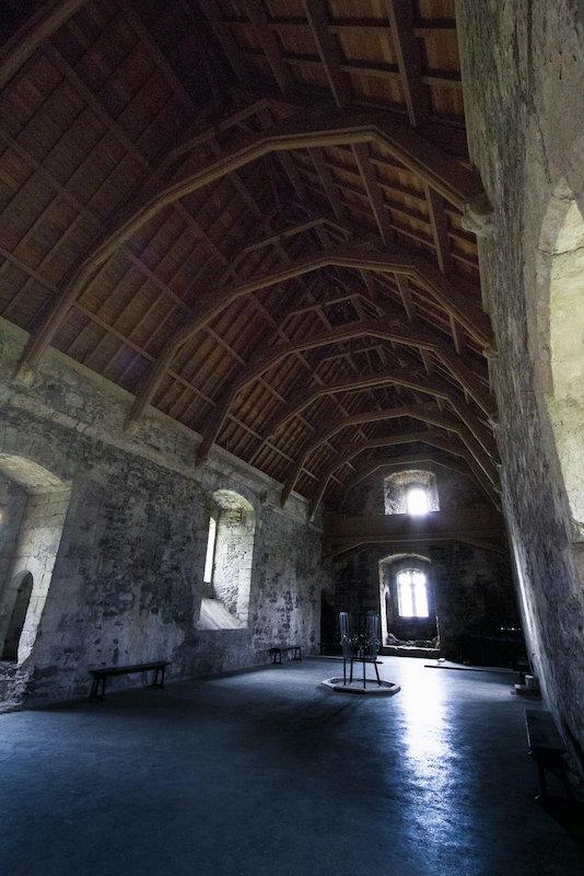 Main hall at Doune Castle