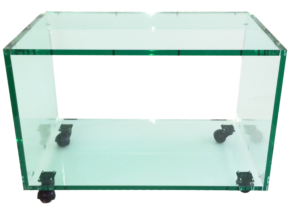 plexiglas aspet verre meuble tv