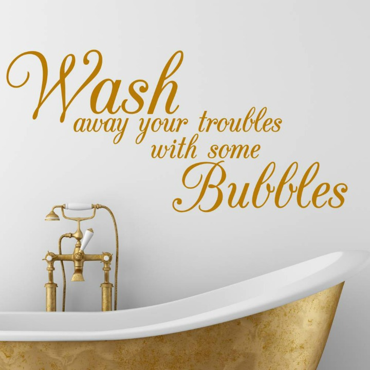 Bathroom Wall Sticker Inspirational Quote Ideas Soakology