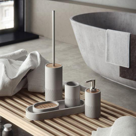 Gedy Afrodite Concrete Bathroom Accessories Set Soakology