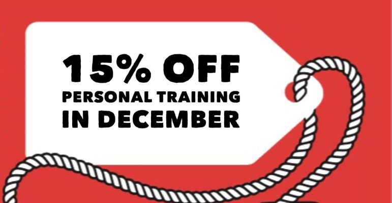 Christmas PT Vouchers Now Available 15% Discount (Offer now closed)