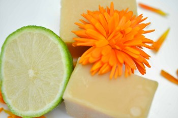 All natural vegan soap. Made in Devon. Orange, Lime & Lemongrass Soap. Al natural and vegan friendly