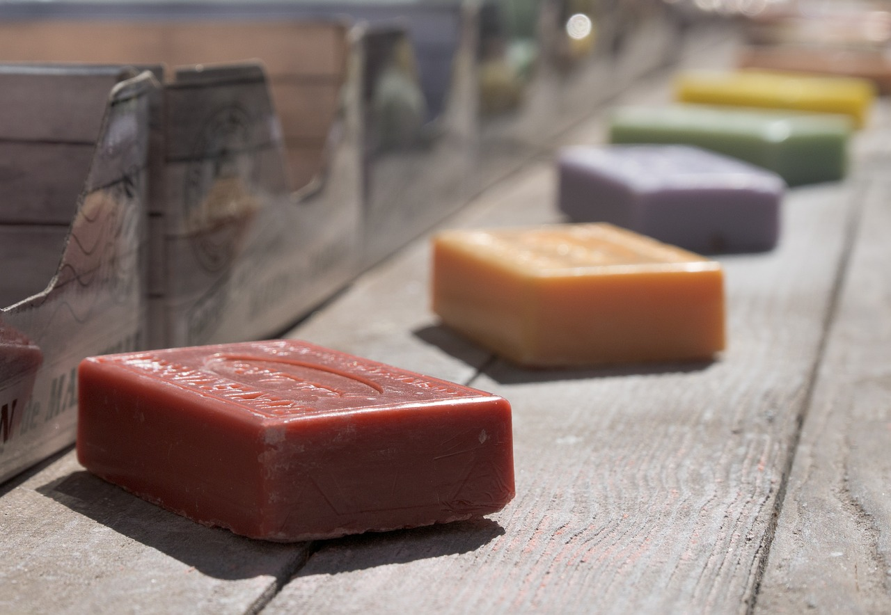 soap, colorful, soap piece