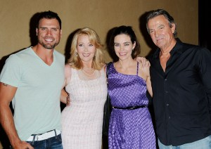 "Amelia Heinle, Eric Braeden, Melody Thomas Scott, Joshua Morrow ""The Young and the Restless"" 2011 Fan Club Dinner Sheraton Universal Universal City 8/26/11 ©Jill Johnson/jpistudios.com 310-657-9661"