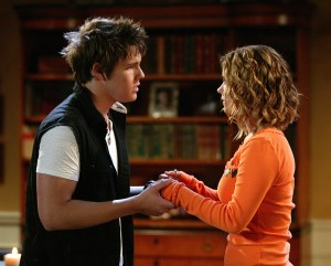101104D_4082 -- GENERAL HOSPITAL -- Scott Clifton (Dillon) and Lindze Letherman (Georgie) in a scene that airs the week of August 23. 2004 on ABC Daytime's General Hospital. General Hospital airs Monday-Friday (3-4 PM,ET) on the ABC Television Network. (ABC/LISA ROSE)