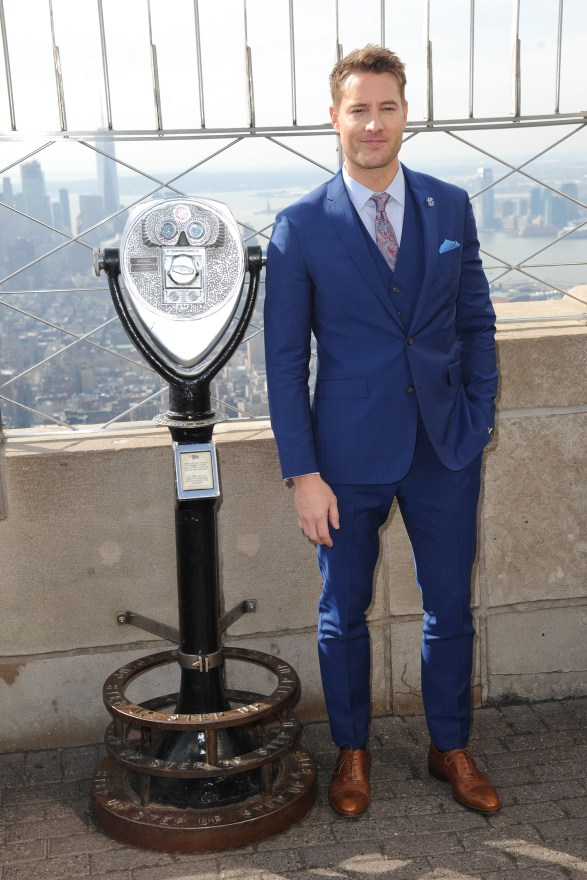 Justin Hartley Visits The Empire State Building Observatory
