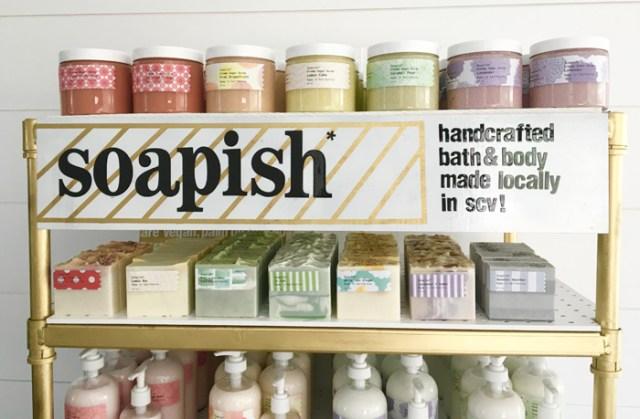 A Beautiful Soapish Display Full Of Soap Lotions And Scrubs