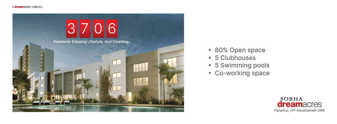 Sobha Dream Acres   1 & 2 BHK Flat /Apartments for sale in East Bangalore