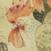 渡辺省亭 群鶏図/Watanabe Seitei Roosters