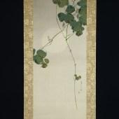 渡辺省亭 月に葛図/Watanabe Seitei