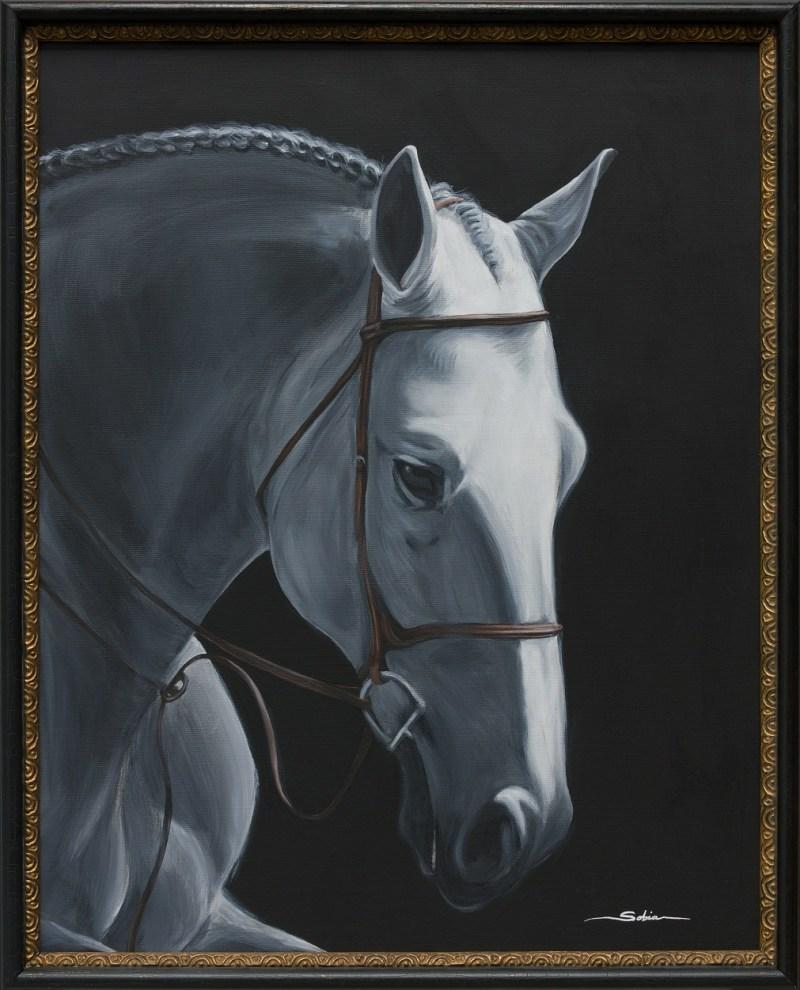 Sobia Shuaib - Maximus 24x30 framed