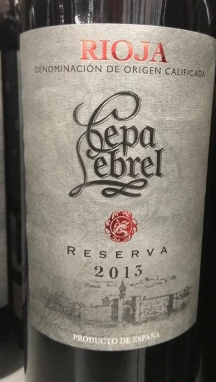 Cata Del Vino Cepa Lebrel Reserva 2013 Doca Rioja Sobrelias