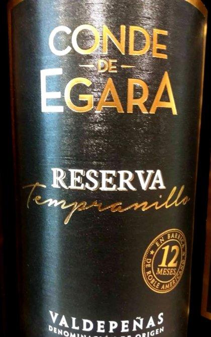 Conde de Egara Reserva Tempranillo 2014